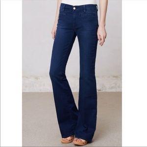 Anthropologie MiH 28 Flare Jeans Blue Casablanca
